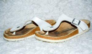 Birkenstock Toe-Post sandals white-bronze-colored