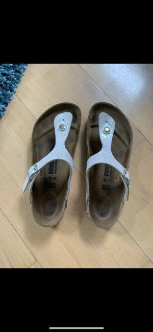 Birkenstock Toe-Post sandals white-natural white leather