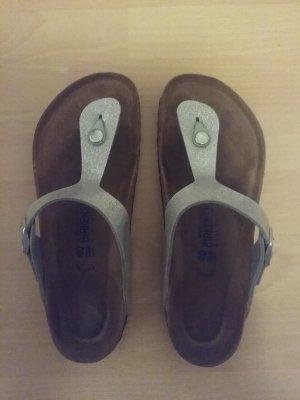 Birkenstock Sandalo infradito con tacco alto argento