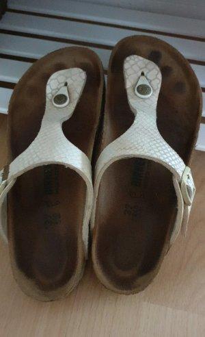 Birkenstock Sandalias de tacón con talón descubierto beige claro