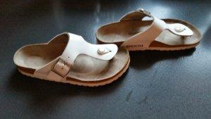 Birkenstock Zapatos blanco Cuero