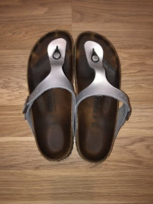 Birkenstock Sandalo toe-post argento