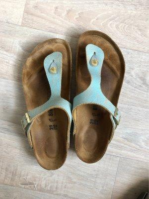 Birkenstock Toe-Post sandals light blue