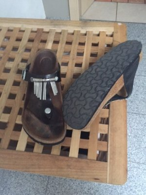 Birkenstock Outdoor Sandals black leather