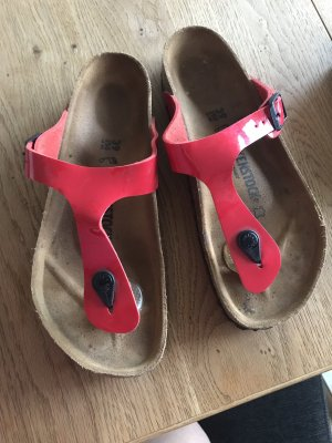 Birkenstock Toe-Post sandals red leather