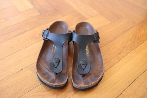 Birkenstock Sandalo toe-post nero