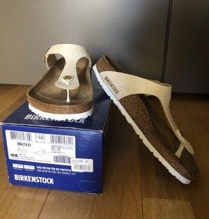 Birkenstock Toe-Post sandals cream-gold-colored