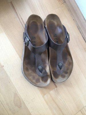 Birkenstock Sandalo toe-post bronzo-marrone chiaro