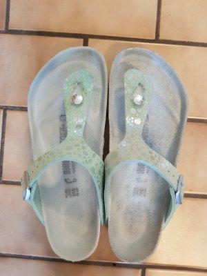 Birkenstock Toe-Post sandals turquoise