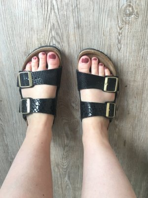 Birkenstock Sandals black leather