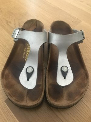 Birkenstock Toe-Post sandals silver-colored-light grey