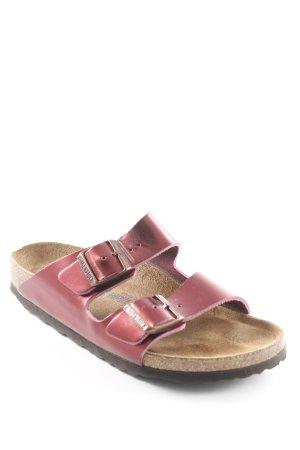 Birkenstock Sandalo comodo bordeaux stile metallico