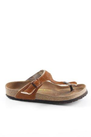 Birkenstock Sandalo comodo marrone impronta animale