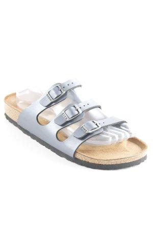 Birkenstock Sandalo comodo grigio ardesia-marrone stile casual