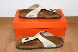 Birkenstock Lack Beige Nude Sandaletten Flip-Flop 41