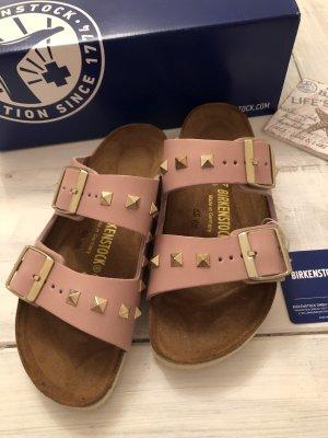 Birkenstock Sandalen met hoge hakken rosé-stoffig roze