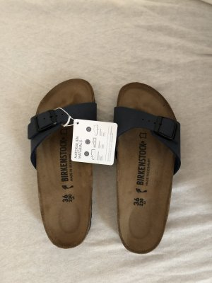 Birkenstock Sandalias cómodas azul oscuro-marrón