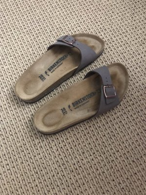 Birkenstock Strapped High-Heeled Sandals light brown