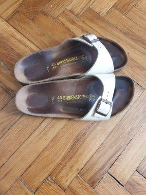 Birkenstock Comfortabele sandalen wolwit Leer