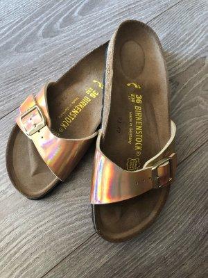 Birkenstock Clog Sandals rose-gold-coloured-pink imitation leather