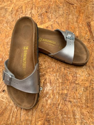 Birkenstock Comfort Sandals silver-colored-black