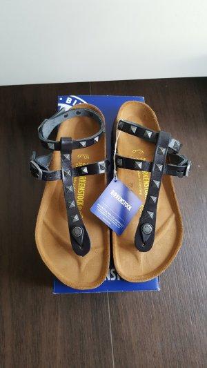 Birkenstock Marillia 39 schwarz Studded Nieten Zehentrenner