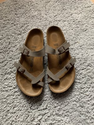 Birkenstock Comfort Sandals grey brown-rose-gold-coloured
