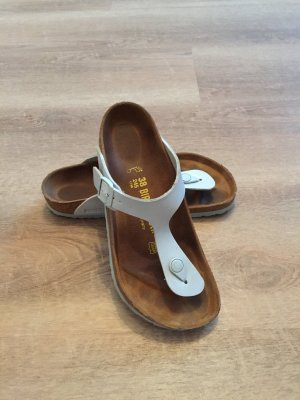 Birkenstock Toe-Post sandals azure leather