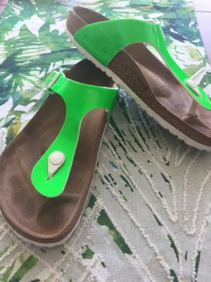 Birkenstock Toe-Post sandals neon green