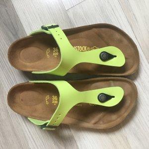 Birkenstock Sandalo comodo verde neon