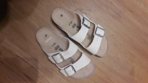 Birkenstock Wedge Sandals white-silver-colored