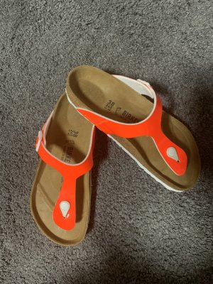 Birkenstock Slip-on Shoes white-neon orange