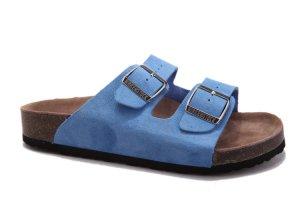 Birkenstock Sandals neon blue suede