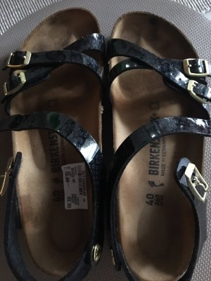 Birkenstock Strapped High-Heeled Sandals dark blue