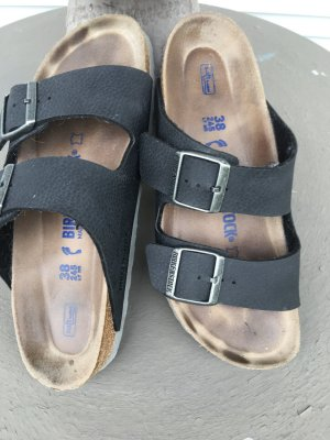 Birkenstock Sabots dark blue-black leather