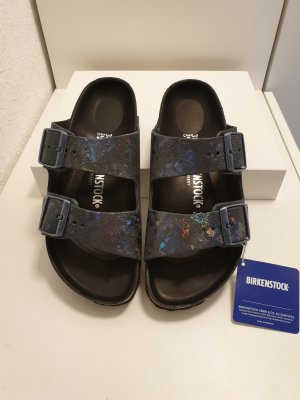 Birkenstock Strapped High-Heeled Sandals multicolored leather