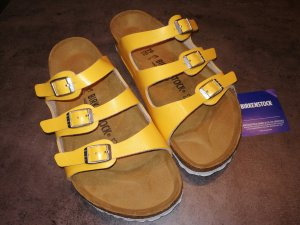 Birkenstock Pantolette Florida Graceful Amber gelb (39, normal)