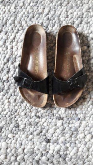 Birkenstock Strapped High-Heeled Sandals black