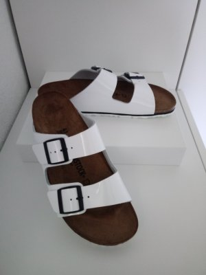 Birkenstock Platform Sandals white-black