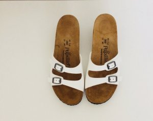 Birkenstock Heel Pantolettes white leather