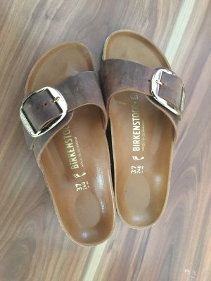 Birkenstock Pantolleten Madrid Big Buckle Cognac