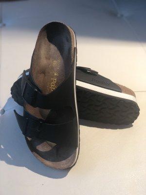 Birkenstock Sandalo con plateau nero-bianco