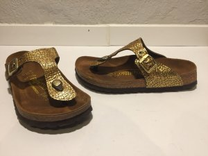 Birkenstock Comfort Sandals gold-colored leather