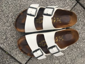 Birkenstock Mules white leather