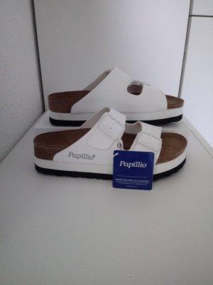 Birkenstock Platform Sandals white-black