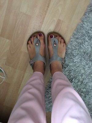Birkenstock Sandalo toe-post rosa antico