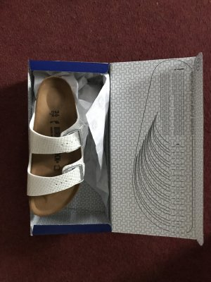 Birkenstock Sandalo bianco-bianco sporco Pelle