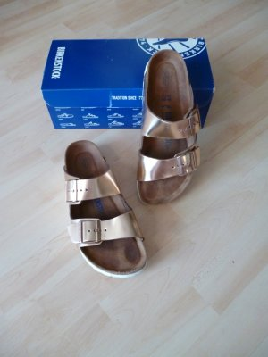 Birkenstock Sandals rose-gold-coloured leather
