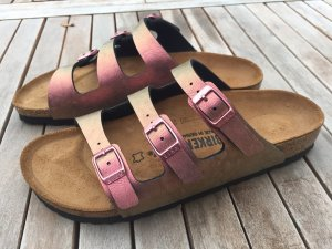 Birkenstock Strapped Sandals brick red-gold-colored