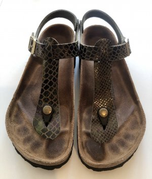Birkenstock Toe-Post sandals multicolored leather
